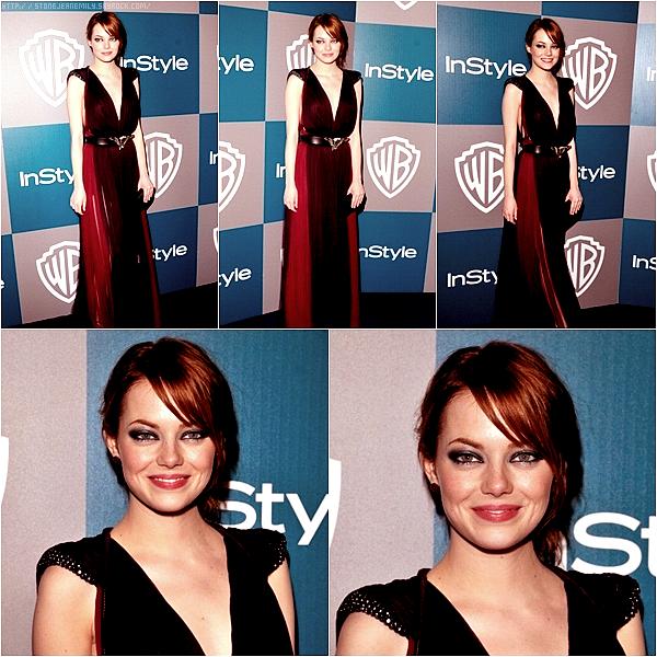 Dimanche 15 Janvier: Emma était sur le tapis rouge des 79ème Golden Globes.