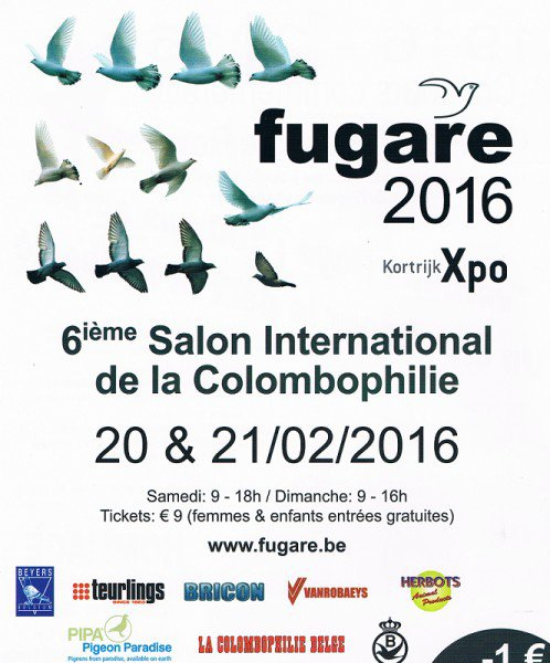 FUGARE 2016 salon international colombophile Courtrai