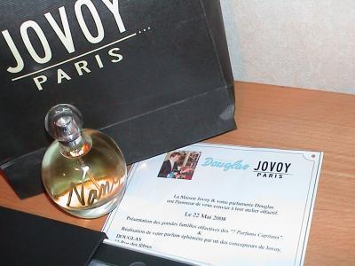 Participation à un atelier parfum .Photo de mon parfum Nany