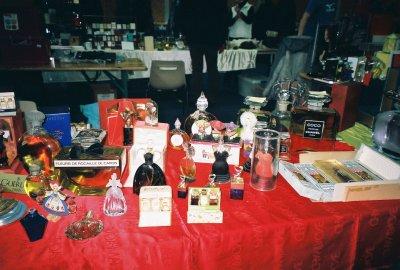 Exposition de Mulhouse 2009 un autre stand de vendeur en gros plan