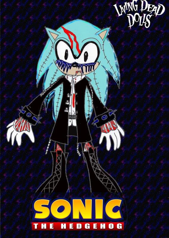 La Living Dead Doll de Sonic colorié!
