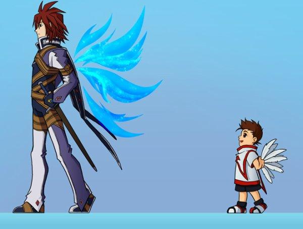 Petit Lloyd et Papa Kratos (et leurs ailes)