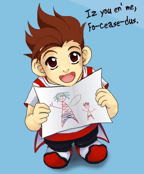 Petit Lloyd et son dessin.