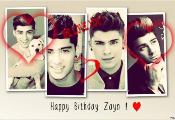 Happy Birthday Zayn !! ♥♥