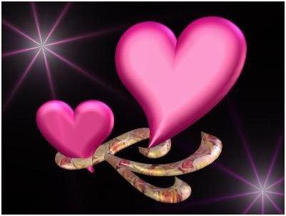 joli coeur rose.