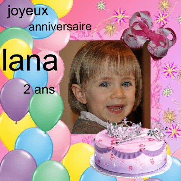 joyeux anniversaire lilou et lana 2 ans.