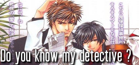 Manga Do you know my detective ?