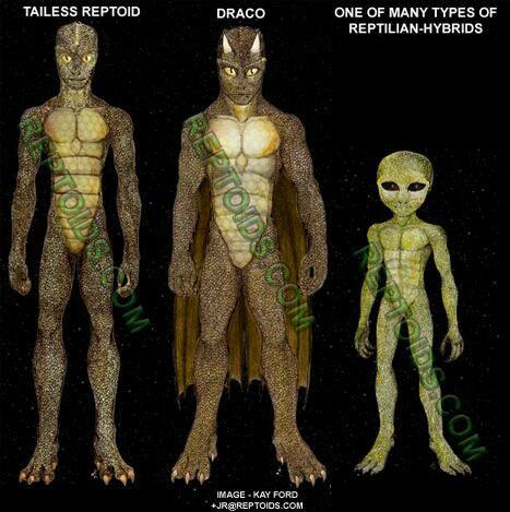 Extraterrestres reptiloïdes et Hommes-Lézards