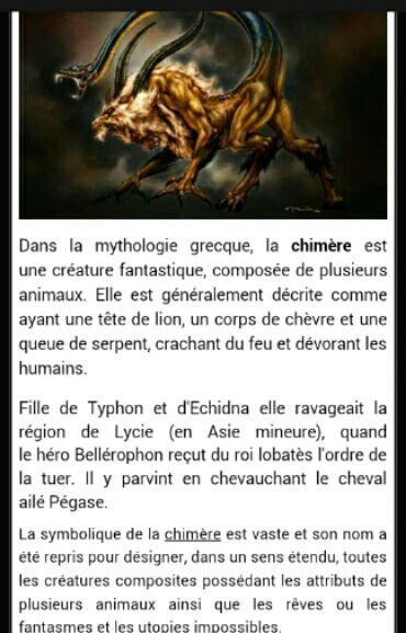 Créatures mythologiques,6e partie