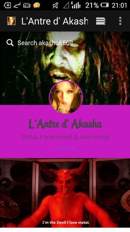 """Tumblr Blog """"L'Antre d'Akasha """""""
