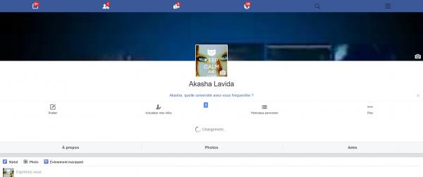 Mon compte Facebook pour faire votre demande d'ami