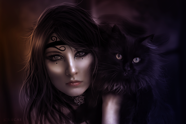 Black Cat is the Best Friend of the Witch