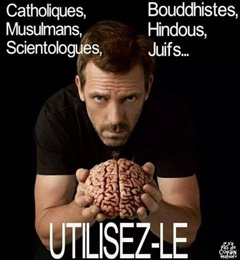Je suis CONTRE l'extrêmisme religieux!