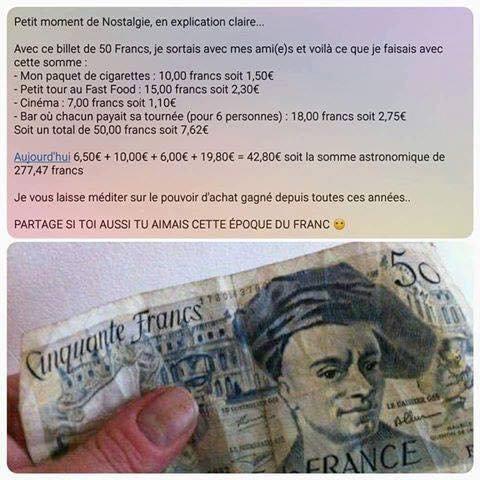 C'était le bon temps les Francs!