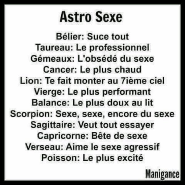 Votre horoscope du jour ;)