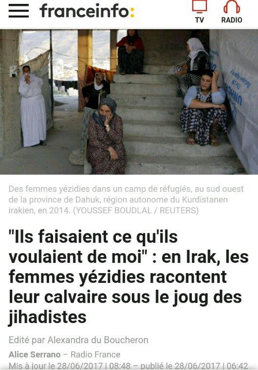 Le calvaire des femmes Yézidies (Début)