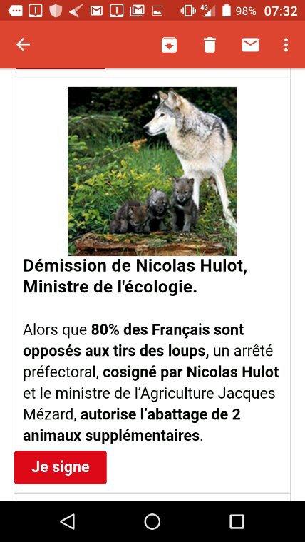 Encore une autorisation supplémentaire pour l'abattage de 2 nouveaux loups !!!! Il faut que cela cesse !SIGNEZ et PARTAGEZ UN MAXIMUM SVP