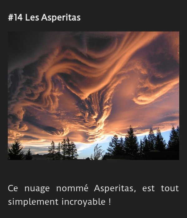 14 images hallucinantes de la nature 2e Partie