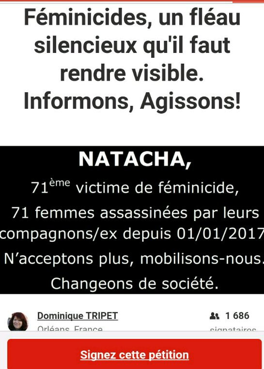Encore une femme victime de la violence meurtrière des hommes