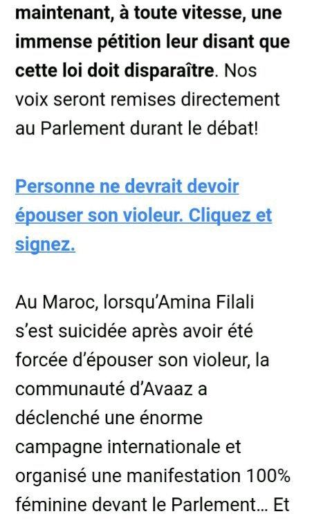 """Avaaz - Jordanie: abrogez la loi """"Épouse ton violeur"""""""