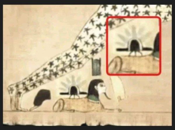 Un Ovni représenté sur un ancien papyrus égyptien