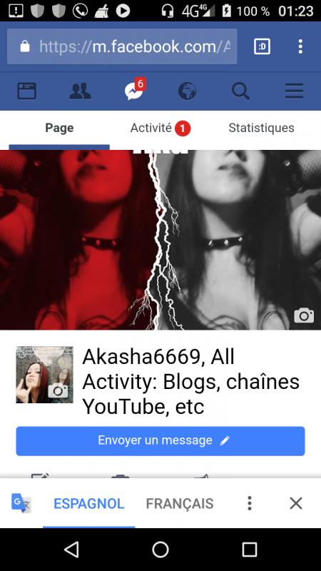 Ma page Facebook oU sont répertoriées toutes mes activités sur les réseaux sociaux