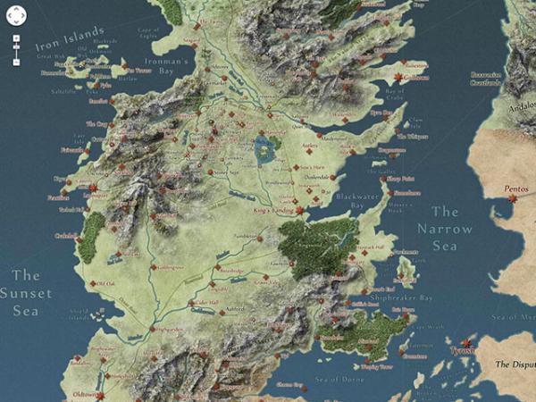 Une carte interactive pour suivre nos personnages préférés