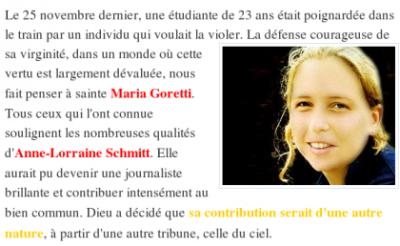 POUR ANNE-LORRAINE ...