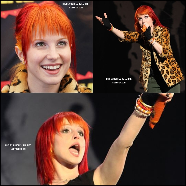 """29/08/10 : Paramore était une nouvelle fois en concert au Royaume-Uni, pour le """"Reading Festival"""" cette fois-ci."""