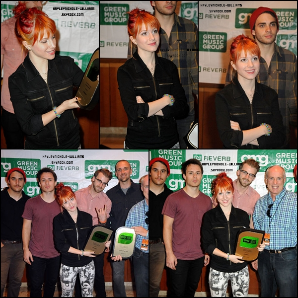 "23/09/10 : Le ""Green Music Group"" accueuillait Paramore, en raison du Honda Civic Tour, qui supportait l'écologie."