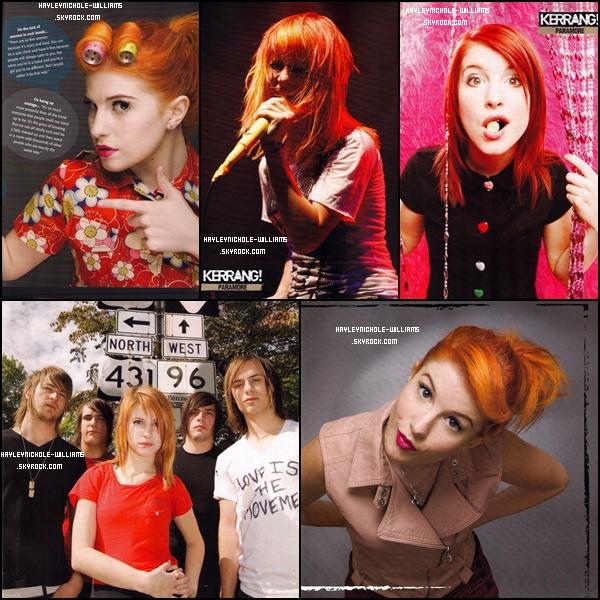 Voici quelques scans de l'édition 2010 spécial Paramore du magazine Kerrang. Je trouve les photos vraiment belles ! Et vous ?