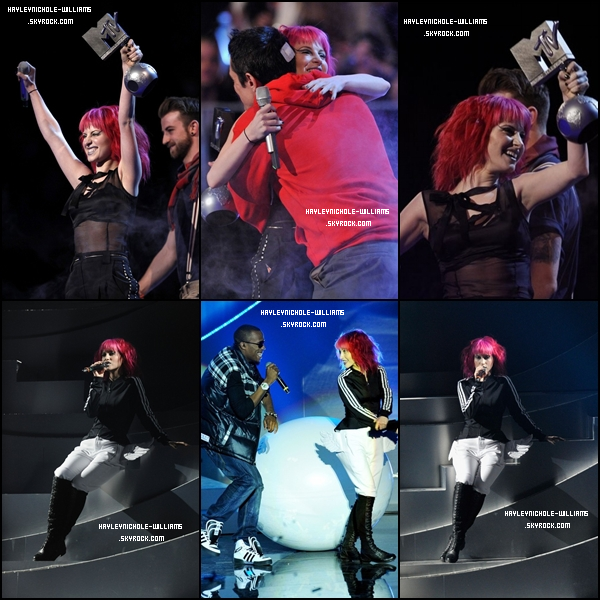 07/11/10 : Paramore assistait à la cérémonie des MTV Europe Music Awards.