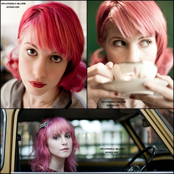 "Voici quelques photos d'Hayley sur le tournage du clip de ""Playing God""."