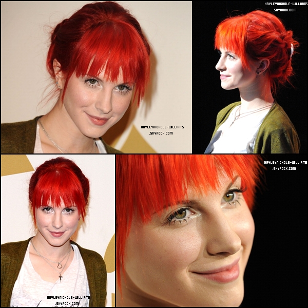01/12/10 : Hayley était aux Grammy Nominations Concert, à Los Angeles..