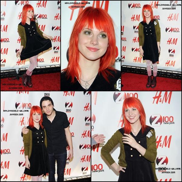 10/12/10 : Hayley était au Z100 Jingle Ball à New York, avec les autres membres du groupe.