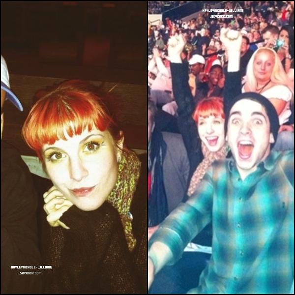 10/01/11 : Hayley était à Nashville, pour voir un match de catch.