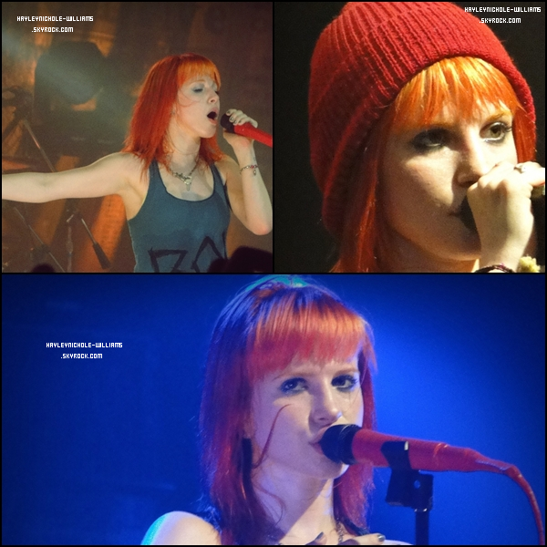 19/02/11: Paramore était en concert à Rio de Janeiro.