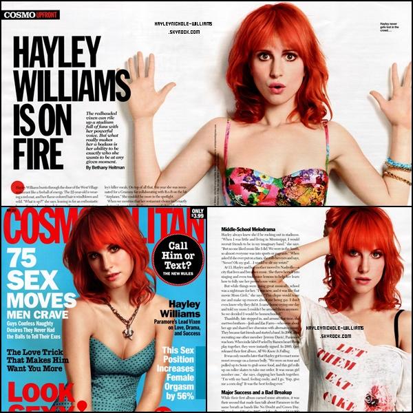 Hayley fera la couverture du Cosmopolitan du mois de Mai. En voici quelques scans :  Je la trouve absolument magnifique ! Votre avis ?