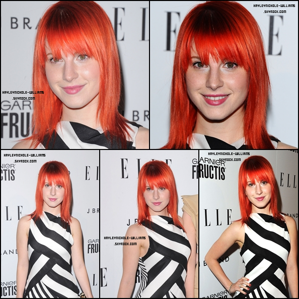 "12 avril : Hayley était à la 2nd cérémonie annuelle ""Women in Music"" de ELLE."