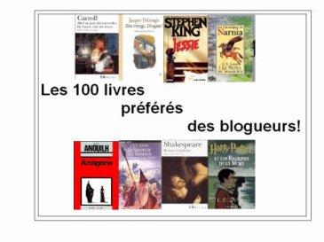 Les 100 livres préférés des blogueurs!