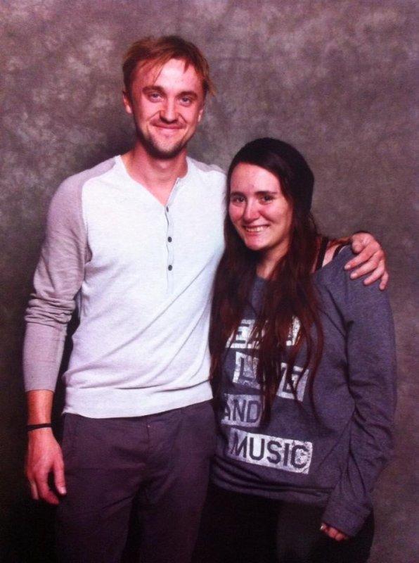so, i met Tom Felton.