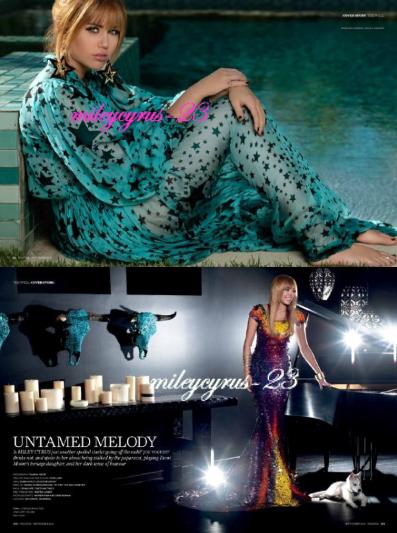 Miley pour le magazine Prestige