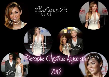 11/01/2012: People's Choice Awards 2012 : Miley Cyrus et Liam Hemsworth