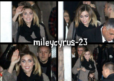 15.02.2012: Miley Sortant Des Studios Jimmy Kimmel Show