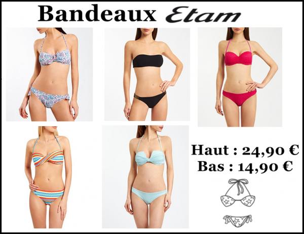 Sélection maillots de bain ETAM