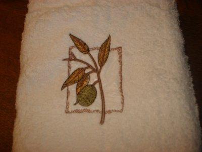 Serviettes de toilette thème provençale