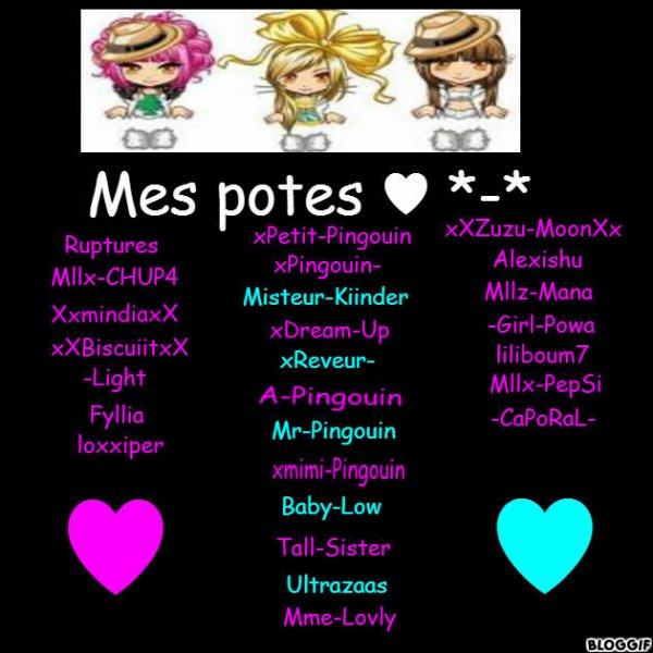 Mes potes *-* ♥