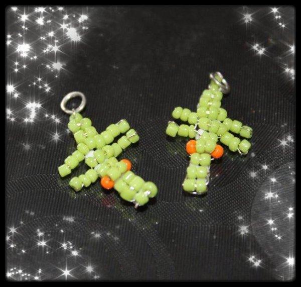 Mes Premières Boucle D'oreilles Mini Croco!! Et le Collier assorti