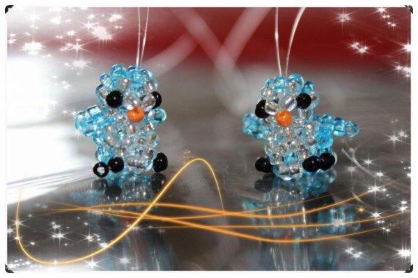 Mes Boucles D'oreilles Pingouins, Le Collier Et Le Porte-Clés