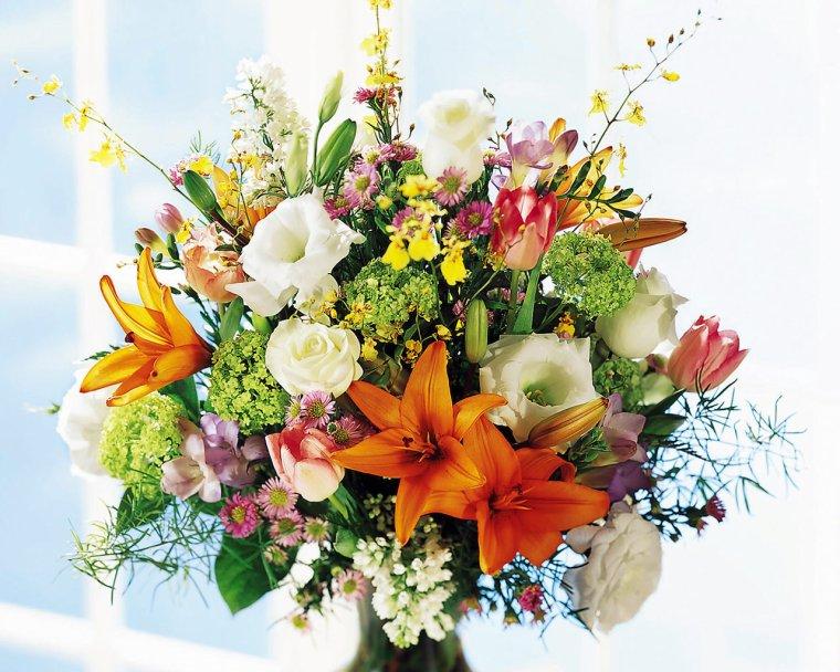 Un bouquet aux couleurs du temps de ces derniers jours :
